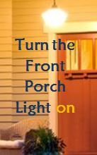 porch light on